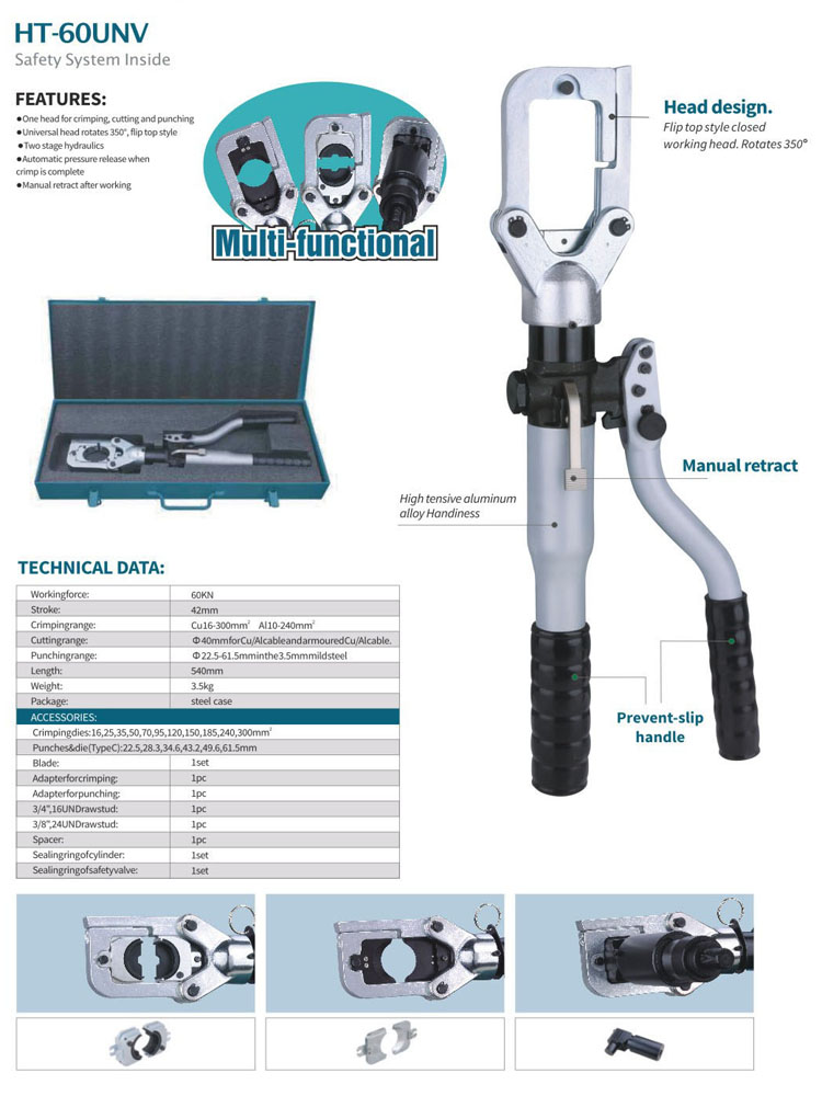 safety hydraulic crimping tool