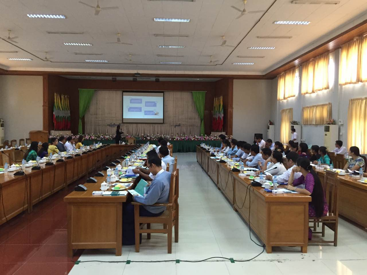 BONLE team make presentation at Myanmar Power